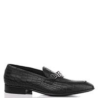 Туфли-лоферы John Richmond с тиснением кроко, фото