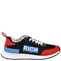 Черные кроссовки John Richmond с яркими вставками, фото