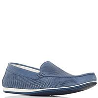 Синие туфли Gianfranco Butteri на белой подошве, фото