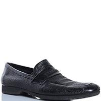 Кожаные туфли Pakerson из тисненной кожи черного цвета, фото