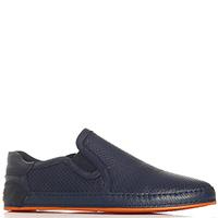 Синие туфли Gianfranco Butteri с перфорацией, фото