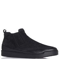 Ботинки Gianfranco Butteri из мягкой кожи черного цвета, фото