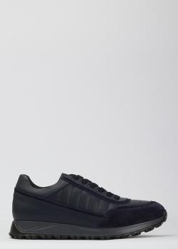 Стеганые кроссовки Dino Bigioni темно-синего цвета, фото