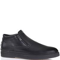 Ботинки Giampiero Nicola из зернистой кожи черного цвета, фото