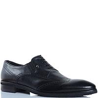 Кожаные туфли с закругленным носочком Mirko Ciccioli черного цвета, фото