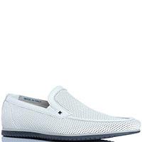 Белые перфорированные туфли FABI из кожи, фото