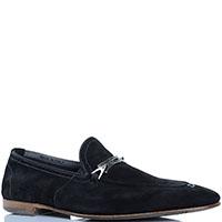 Замшевые туфли с декоративными строчками FABI синего цвета, фото