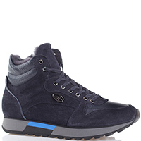 Ботинки Gianfranco Butteri из замши синего цвета, фото