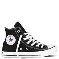 Мужские черные высокие кеды Converse с белой подошвой и шнуровкой, фото
