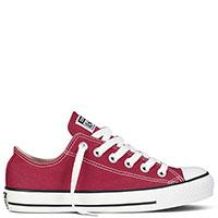 Мужские кеды Converse красного цвета с черной окантовкой подошвы, фото