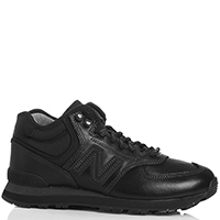 Черные кроссовки New Balance 574 Mid из гладкой кожи, фото