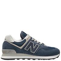 Кроссовки мужские замшевые New Balance 574 синего цвета, фото