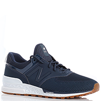 Кроссовки для спорта мужские New Balance 574 синего цвета MS574EMB-o, фото