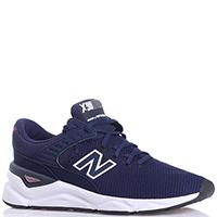 Текстильные кроссовки New Balance X-90 синего цвета, фото