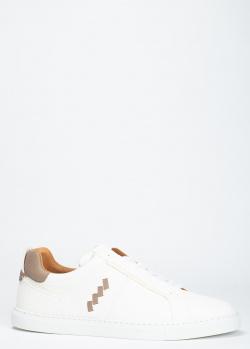 Белые кеды O`Keeffe с коричневыми вставками, фото