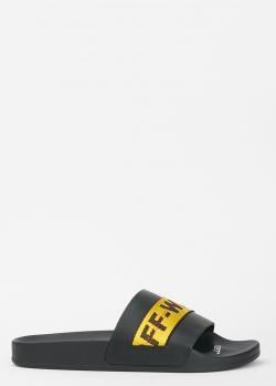 Шлепанцы Off-White черного цвета, фото