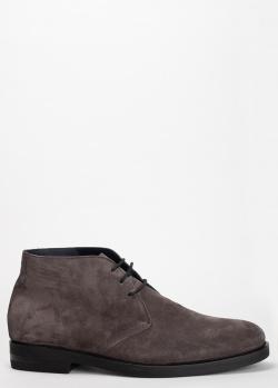 Темно-серые ботинки Pellettieri di Parma из замши, фото