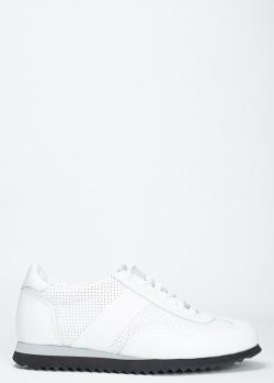 Кроссовки Pellettieri di Parma белого цвета с перфорацией, фото