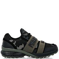 Черные кроссовки Philipp Plein Active из текстиля и кожи, фото