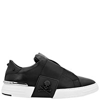 Черные кеды Philipp Plein Phantom Kicks без шнуровки, фото