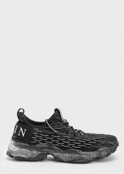 Мужские кроссовки Philipp Plein черного цвета, фото