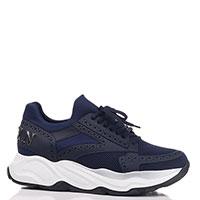 Синие кроссовки Philipp Plein на толстой подошве, фото