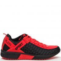Мужские кроссовки Plein Sport красного цвета, фото