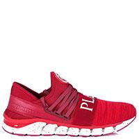 Красные кроссовки Philipp Plein Torpedo на шнуровке, фото