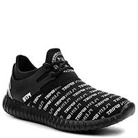 Черные кроссовки Philipp Plein Henry с брендовым принтом, фото