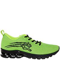 Зеленые кроссовки Philipp Plein Thurmond с вышивкой-лого, фото
