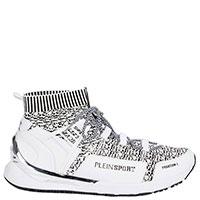 Текстильные кроссовки Philipp Plein Phantom белого цвета, фото