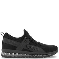 Черные кроссовки Philipp Plein на прозрачной подошве, фото