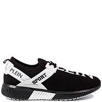 Черные кроссовки Philipp Plein Challenger с белыми вставками, фото
