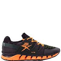 Черные кроссовки Philipp Plein Sunshine с оранжевой шнуровкой, фото