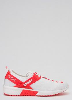 Белые кроссовки Philipp Plein с фирменной надписью, фото