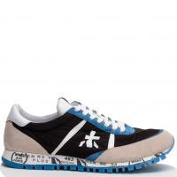Черные кроссовки Premiata с голубыми и бежевыми вставками, фото