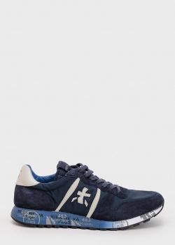 Мужские кроссовки Premiata темно-синего цвета, фото