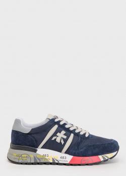 Замшевые кроссовки Premiata синего цвета, фото