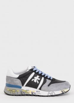 Кроссовки на шнуровке Premiata с принтом на подошве, фото