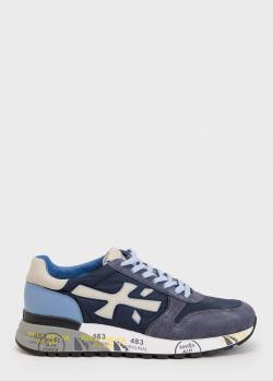 Синие кроссовки Premiata на шнуровке, фото