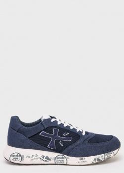 Синие кроссовки Premiata с белой подошвой, фото