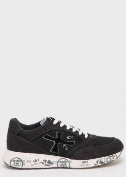 Черные кроссовки Premiata с надписью на подошве, фото