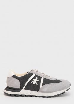 Замшевые кроссовки Premiata с текстильными вставками, фото