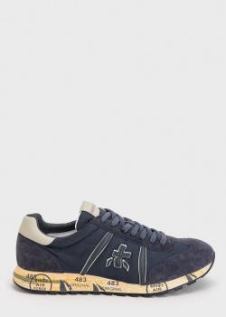 Синие кроссовки Premiata с логотипом, фото