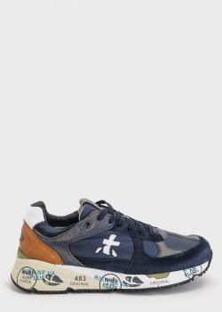 Синие кроссовки Premiata с потертостями, фото