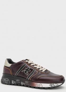 Коричневые кроссовки Premiata Lander из натуральной кожи, фото
