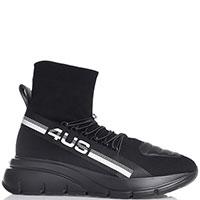 Мужские кроссовки Paciotti на толстой подошве черного цвета, фото