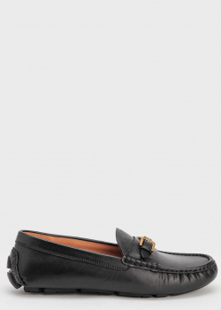 Черные мокасины Polo Ralph Lauren с золотыми пряжками, фото