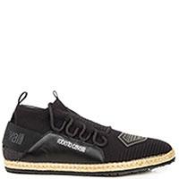 Черные кеды Roberto Cavalli Maglia на шнуровке, фото