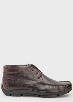 Ботинки из кожи Roberto Serpentini коричневого цвета, фото